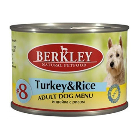 Berkley Adult Dog Menu Turkey & Rice № 8