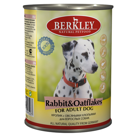 Berkley Adult Dog Rabbit & Oatflakes