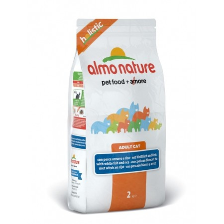 Almo Nature Holistic Adult Cat White Fish & Rice 12 кг
