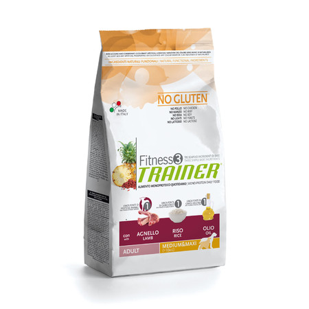 Сухой корм Trainer Fitness3 No Gluten Medium/Maxi Adult Lamb and Rice - 3 кг