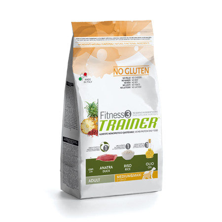 Сухой корм Trainer Fitness3 No Gluten Medium/Maxi Adult Duck and Rice - 3 кг