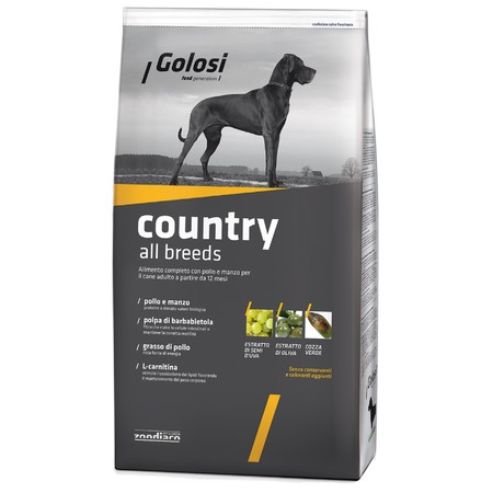 Golosi Dog Adult Country сухой корм для собак с курицей и говядиной