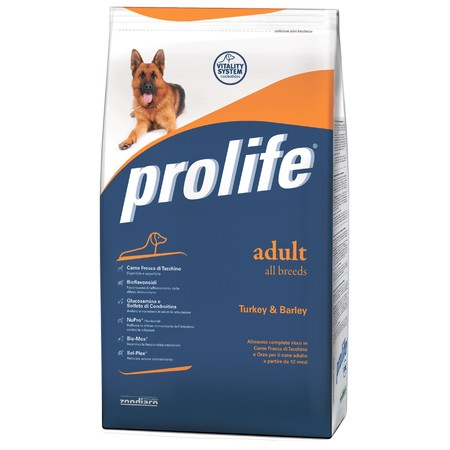 Prolife Dog Adult сухой корм для собак с индейкой и ячменем - 800 г