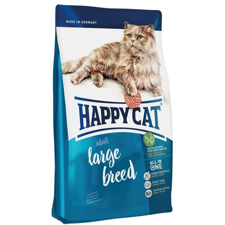 Сухой корм Happy Cat Fit&Well Large Breed для кошек крупных пород с домашней птицей и ягненком - 4 кг